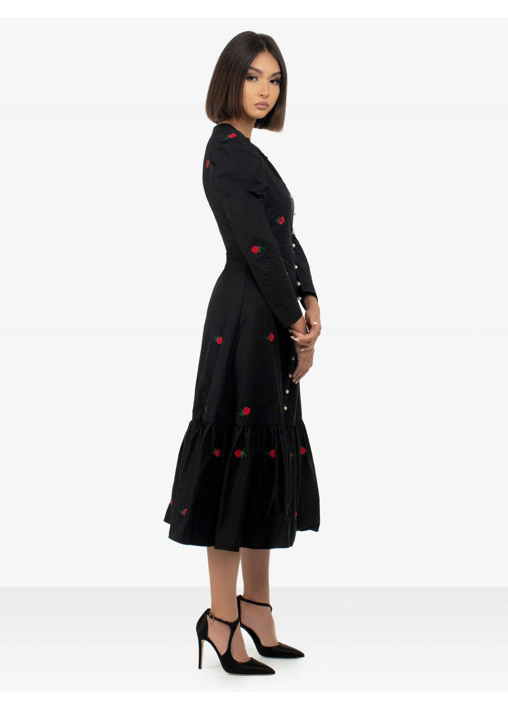 Sister Jane Black Midi Dress