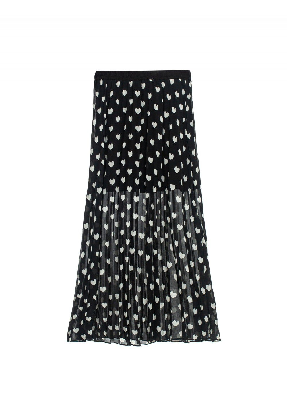 Sister Jane Black-White Pleated Skirt