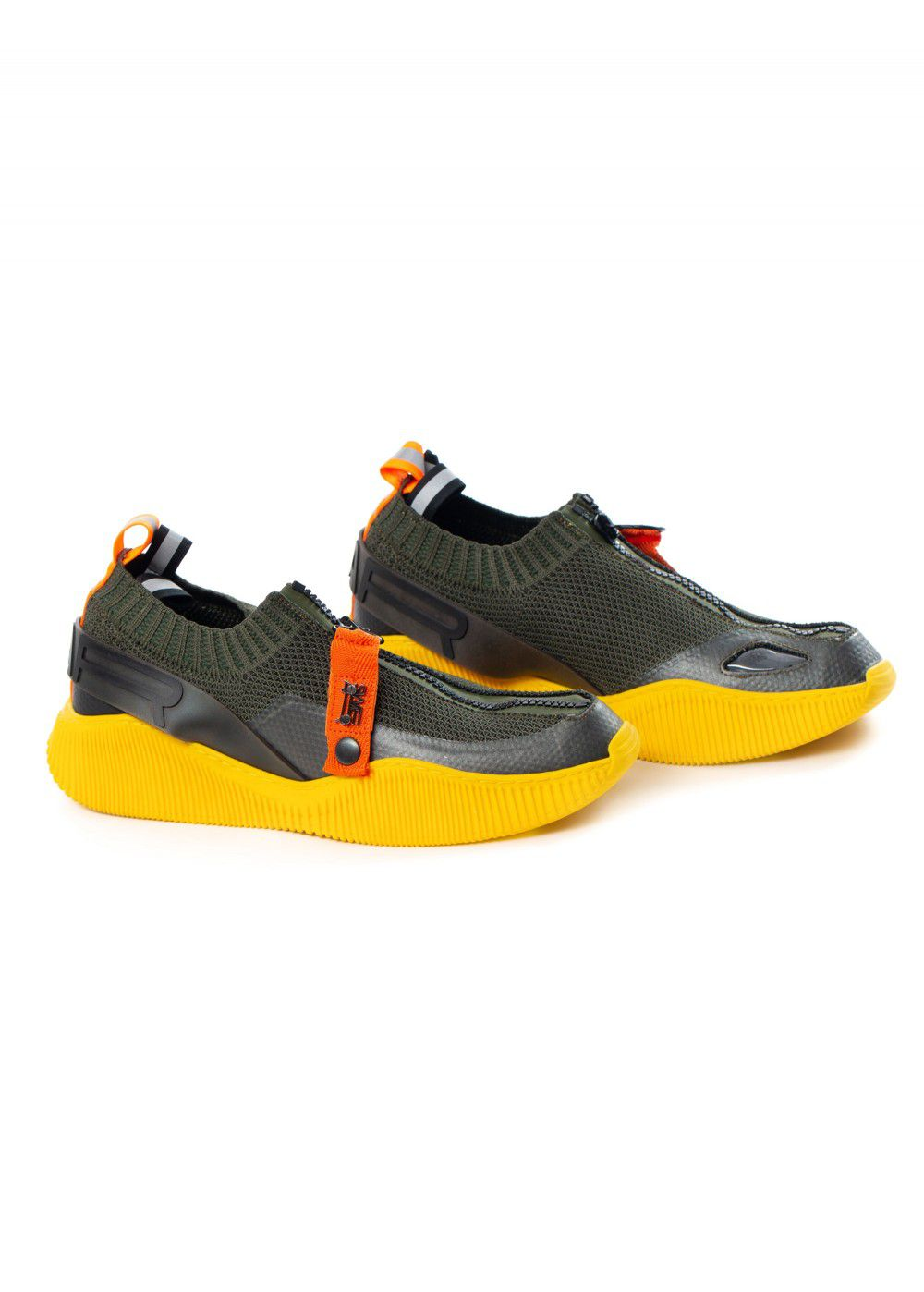 Swear London Crosby Knit Sneakers Black/Yellow