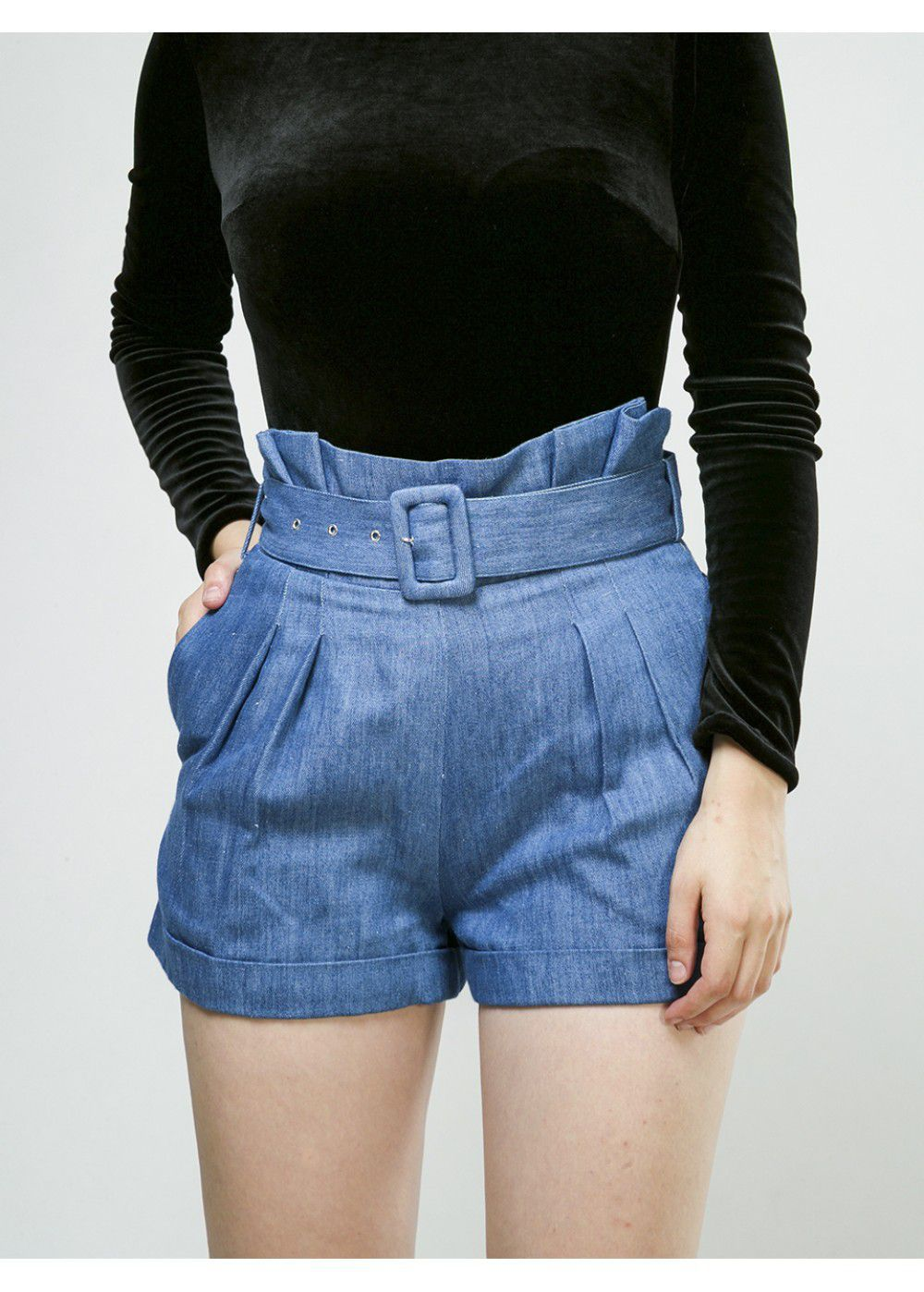 Vatanika High Weisted Denim Shorts