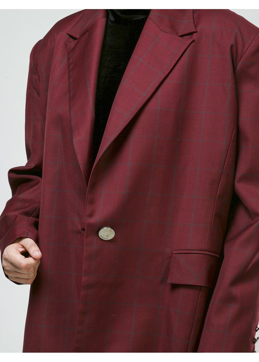 Vatanika Oversized Blazer in Burgundy