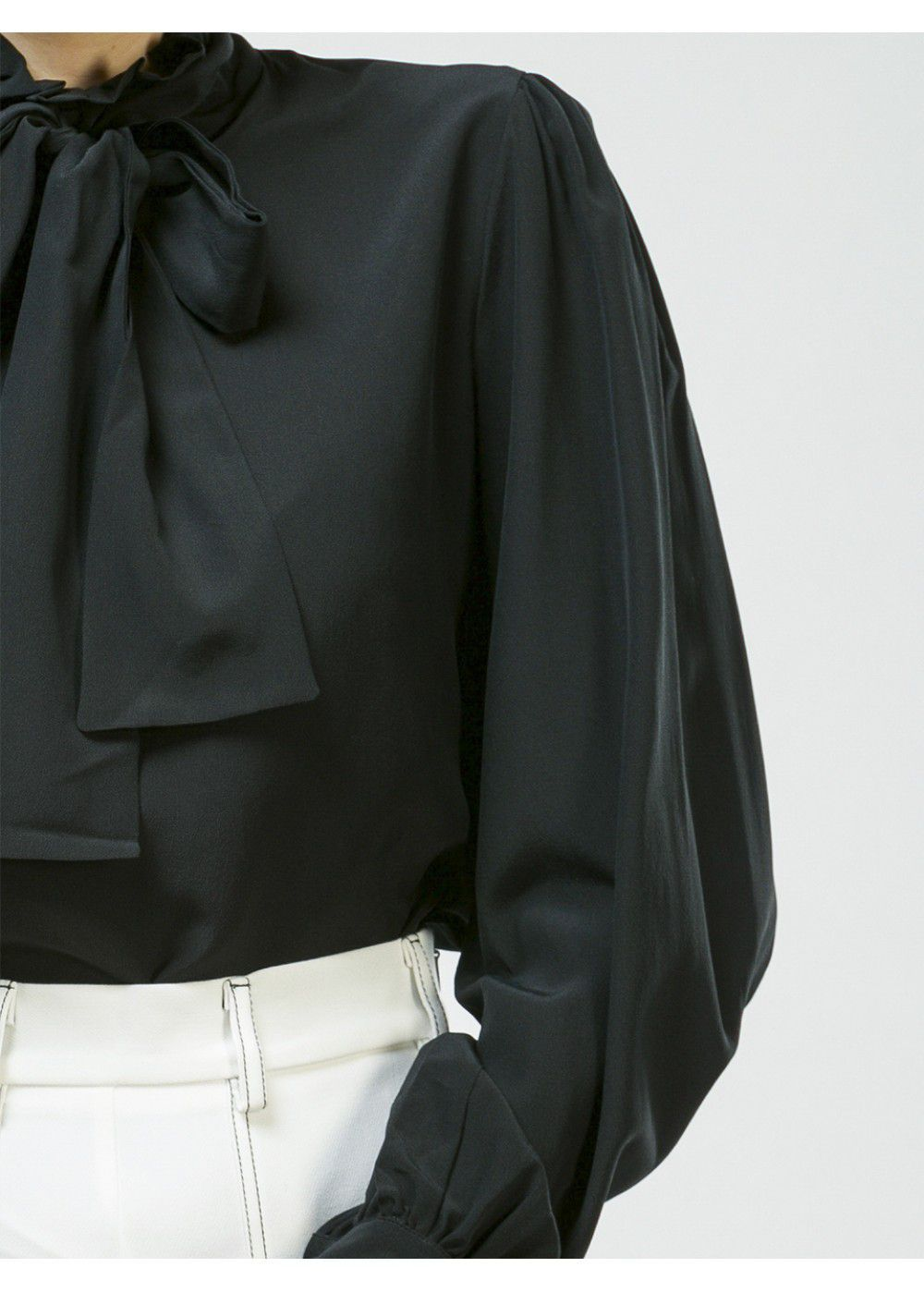 Vivetta Black Silky Shirt