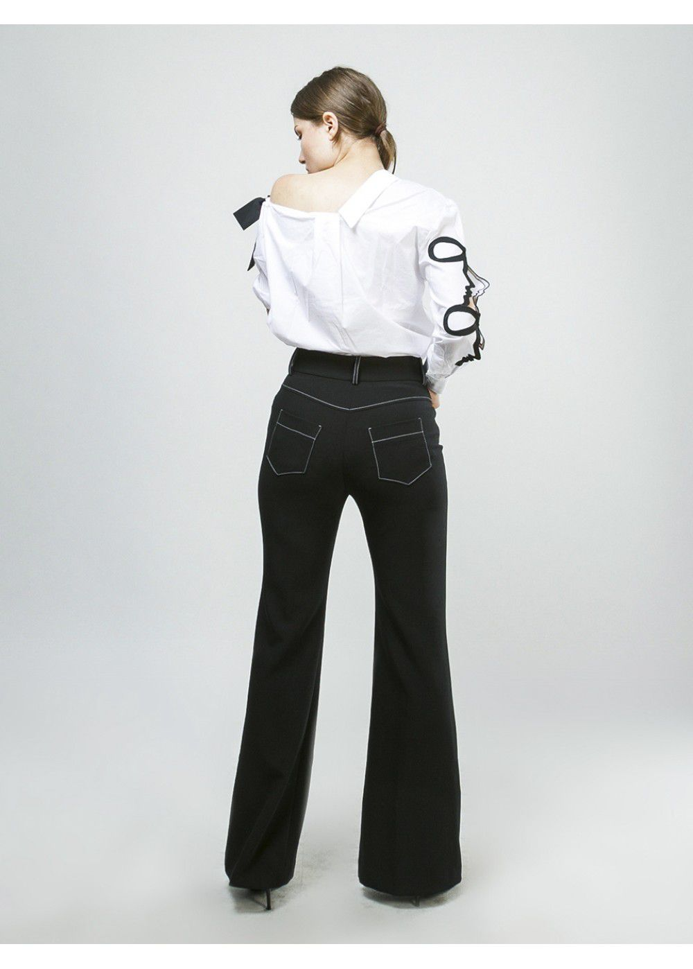 Vivetta Flared Trousers in Black