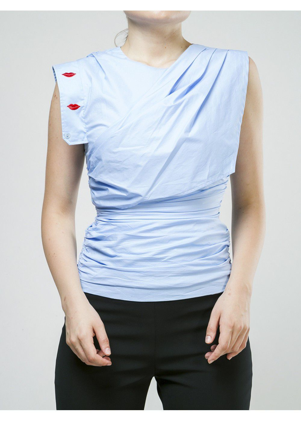 Vivetta Sleeveless Lips Blouse