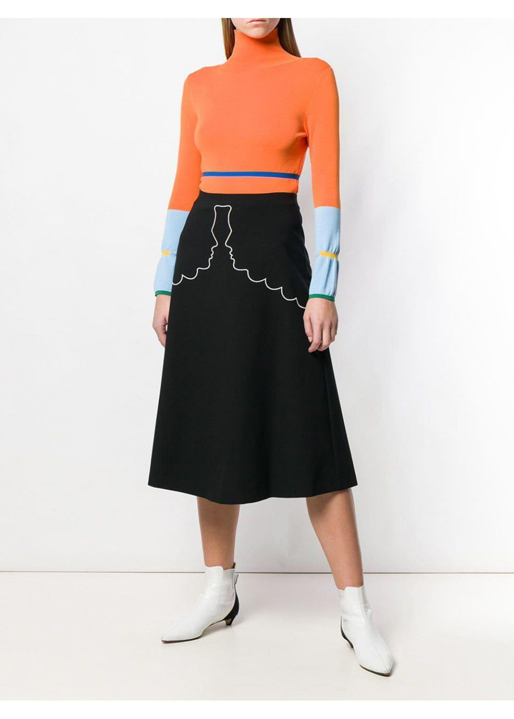 Vivetta A-line Faces Midi Skirt