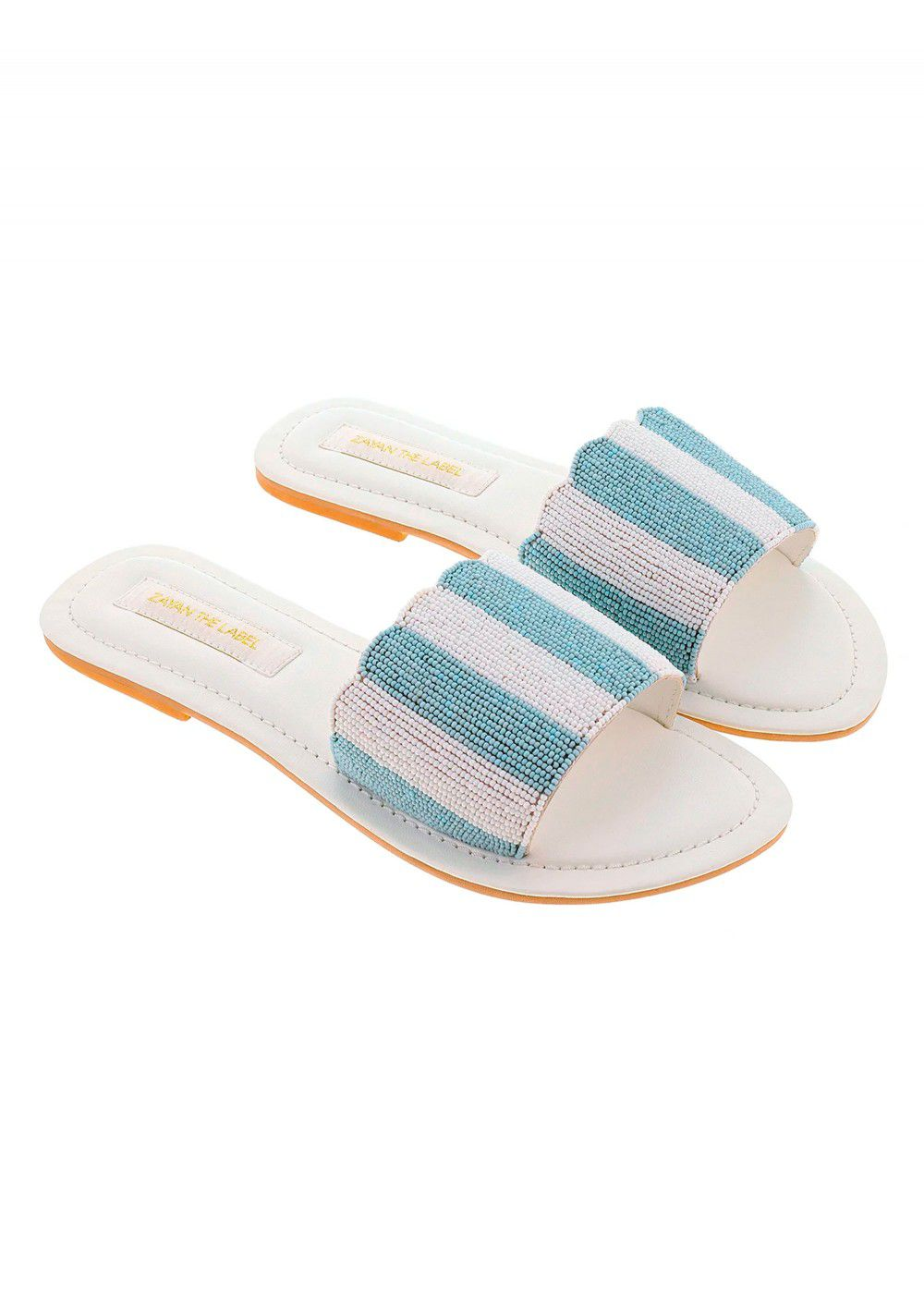 Zayan The Label Positano Blue Slides