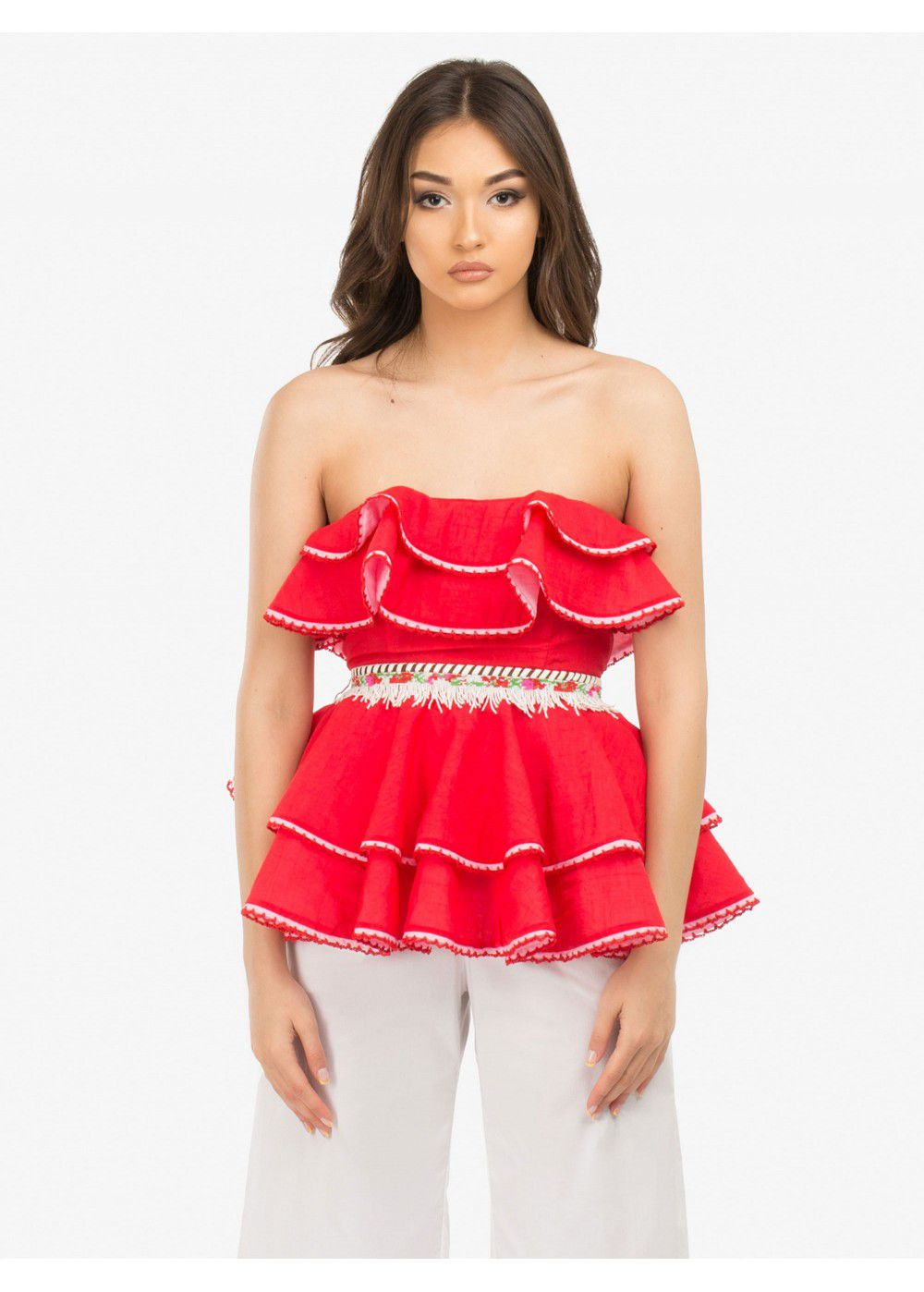 Zayan The Label Mabel Red Top