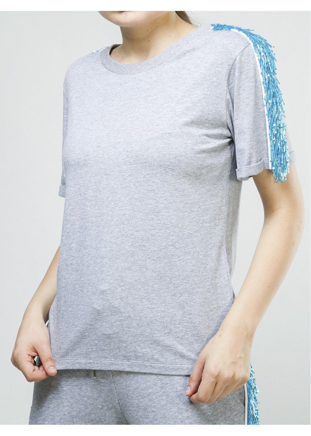 Zayan The Label Blake T-Shirt in Grey