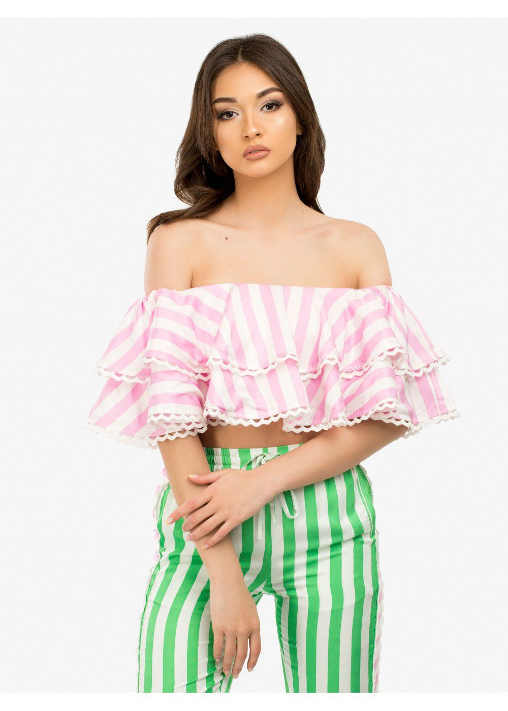 Zayan The Label Poppy Stripe Top