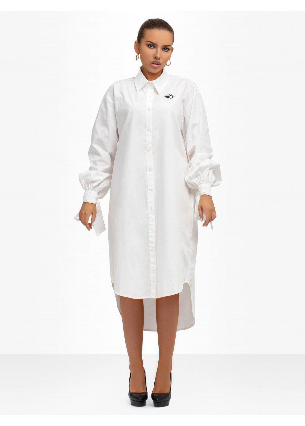 Zayan The Label White Shirt-Dress