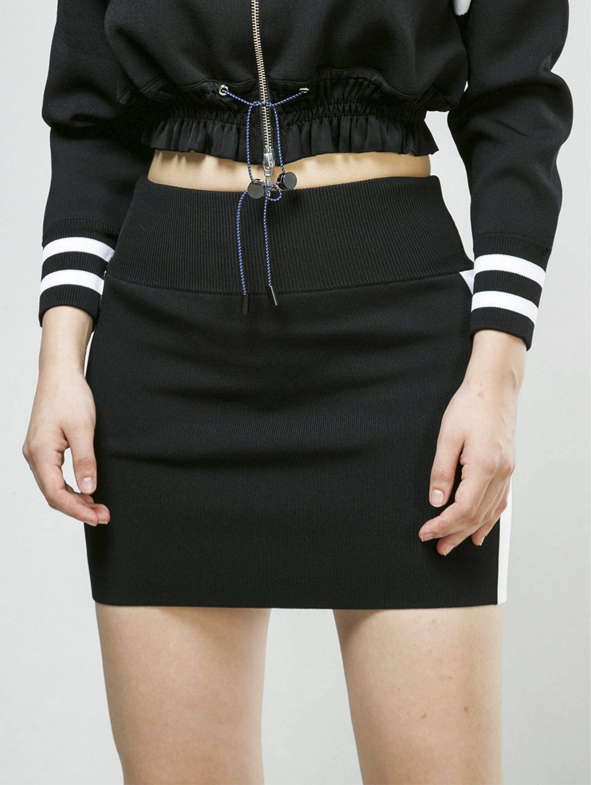 Zoe Jordan Mini Skirt in Black